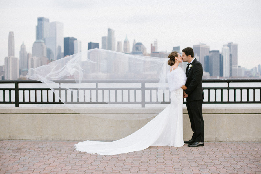 NYC skyline wedding photography