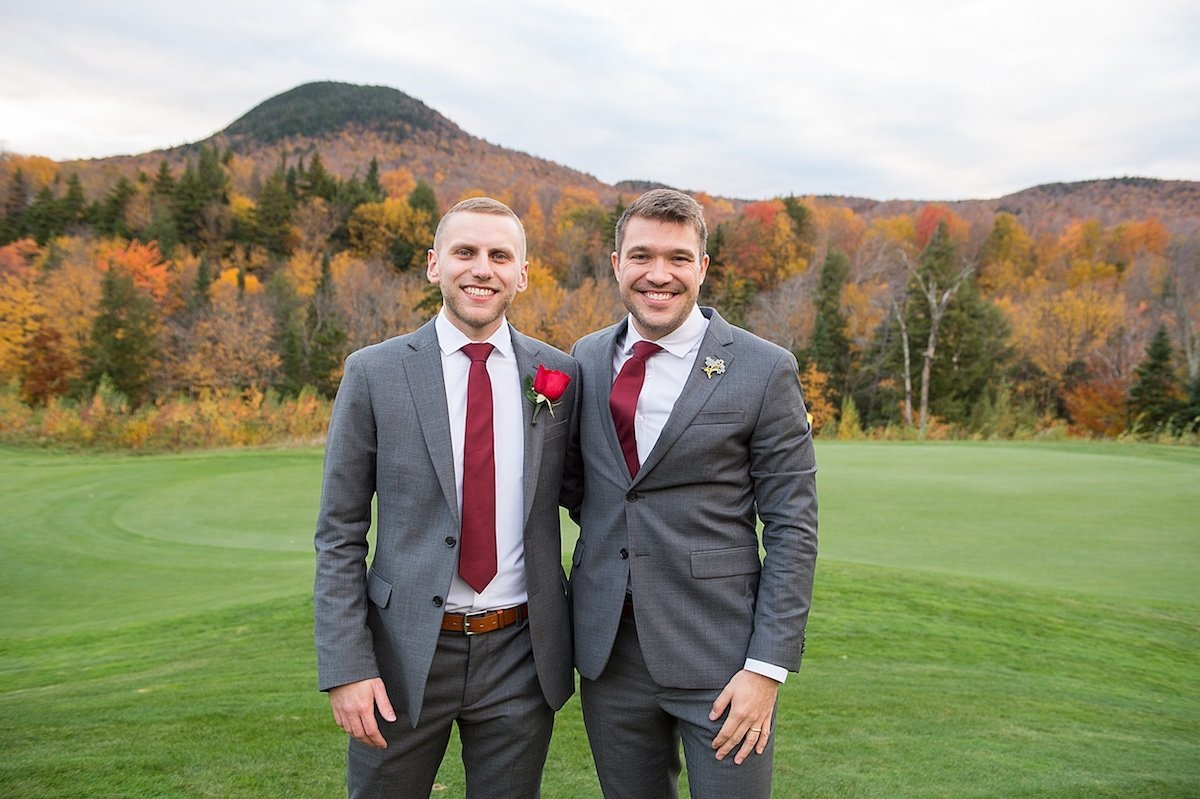 photographer for same sex gay wedding at Jay Peak Resort 4