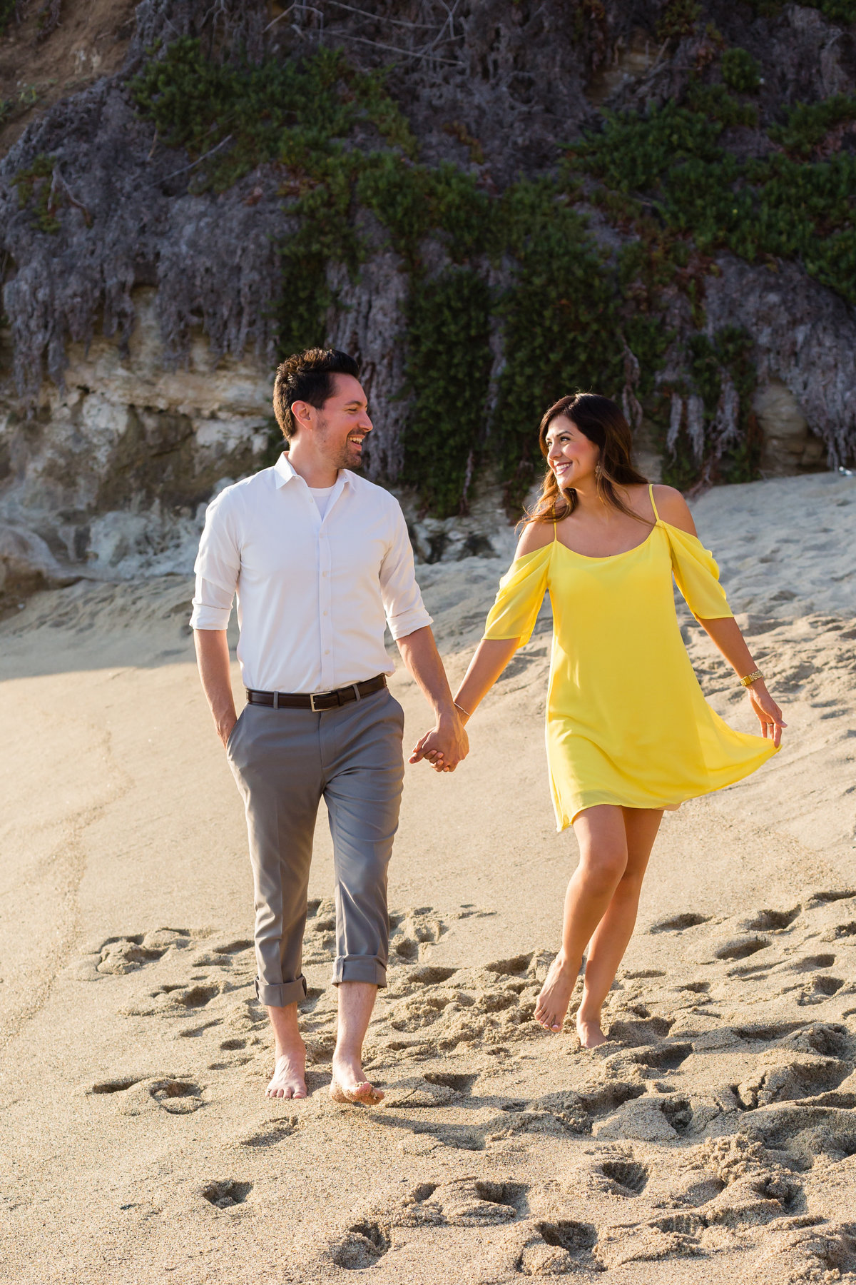Outdoor Beach Sand Rocks Couple