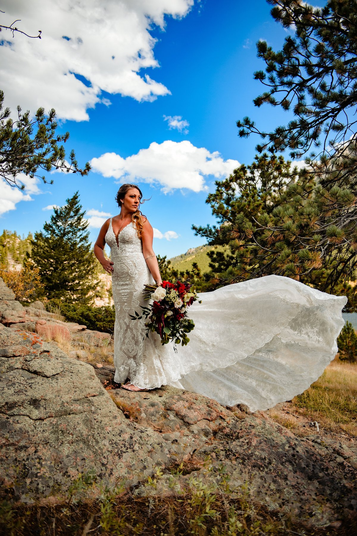 Estes Park Lily Lake and Collision Brewery Longmont Wedding-749