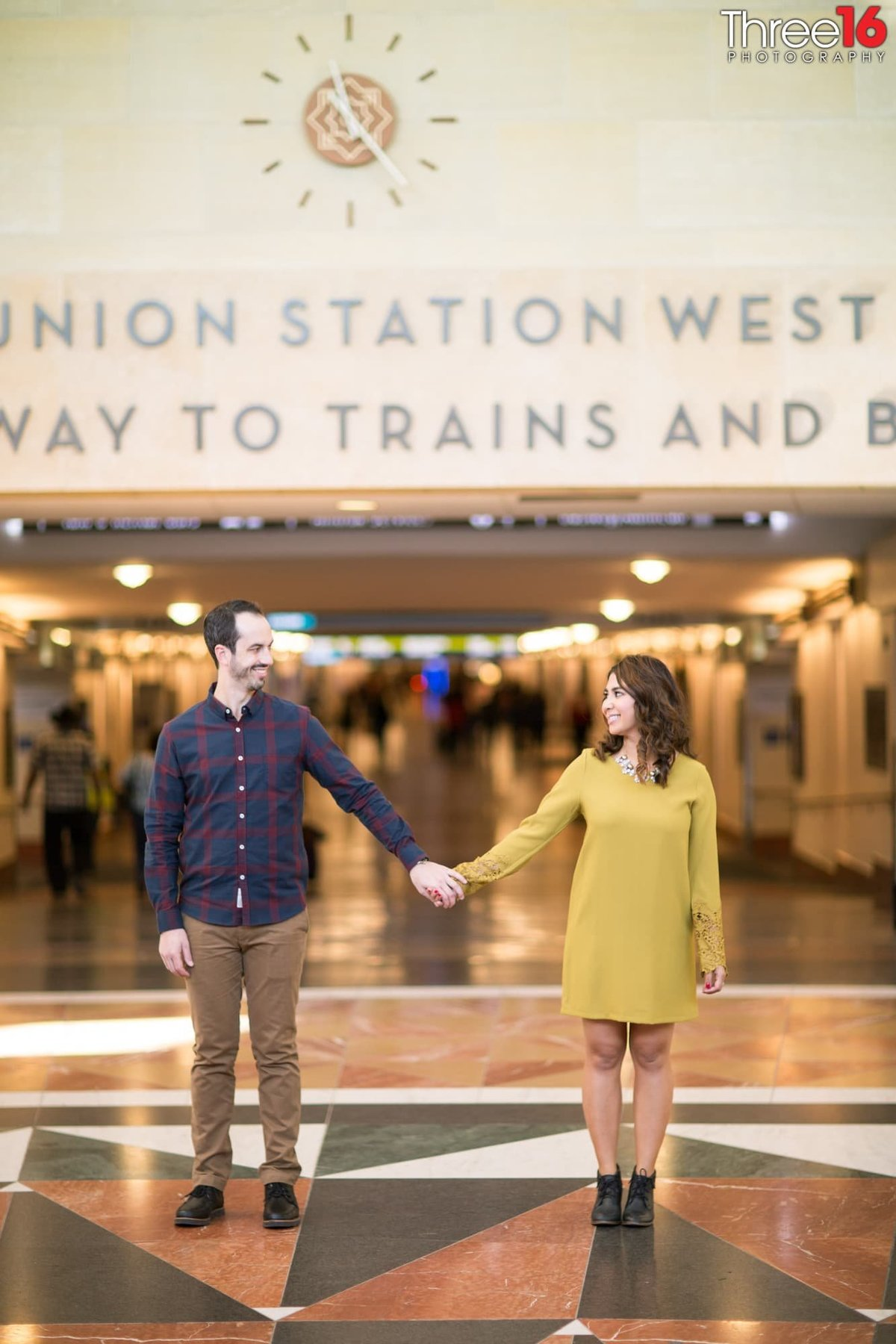 Los Angeles Union Station Engagement Photos LA County Weddings Professional Photography Urban