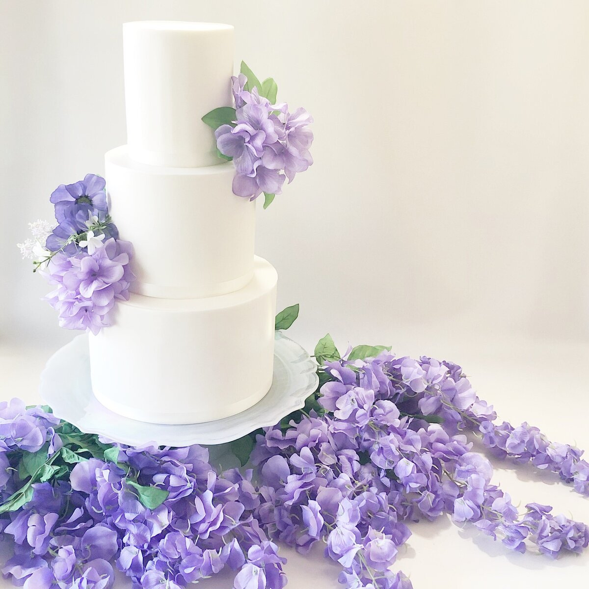 3 Tier with Purple Floral