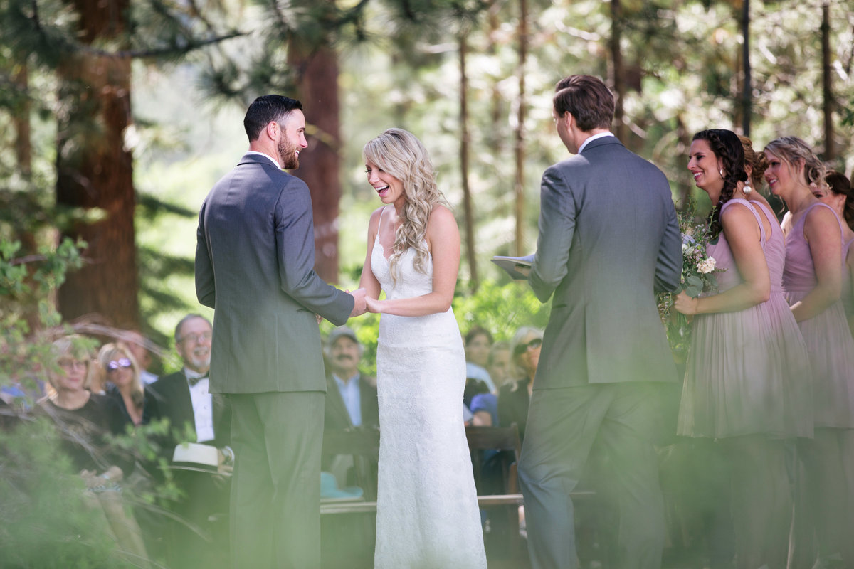 Lake Tahoe wedding ceremony by Andrew and Melanie Photography