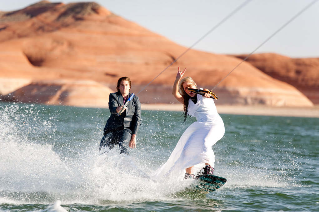 lake powell utah red rock bridal groomal wake boarding photography010