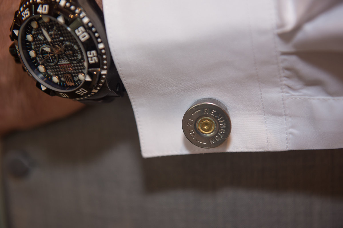 Jimbo's Club at the Point, Brant Lake, NY, Remington bullet cufflinks, divers wristwatch