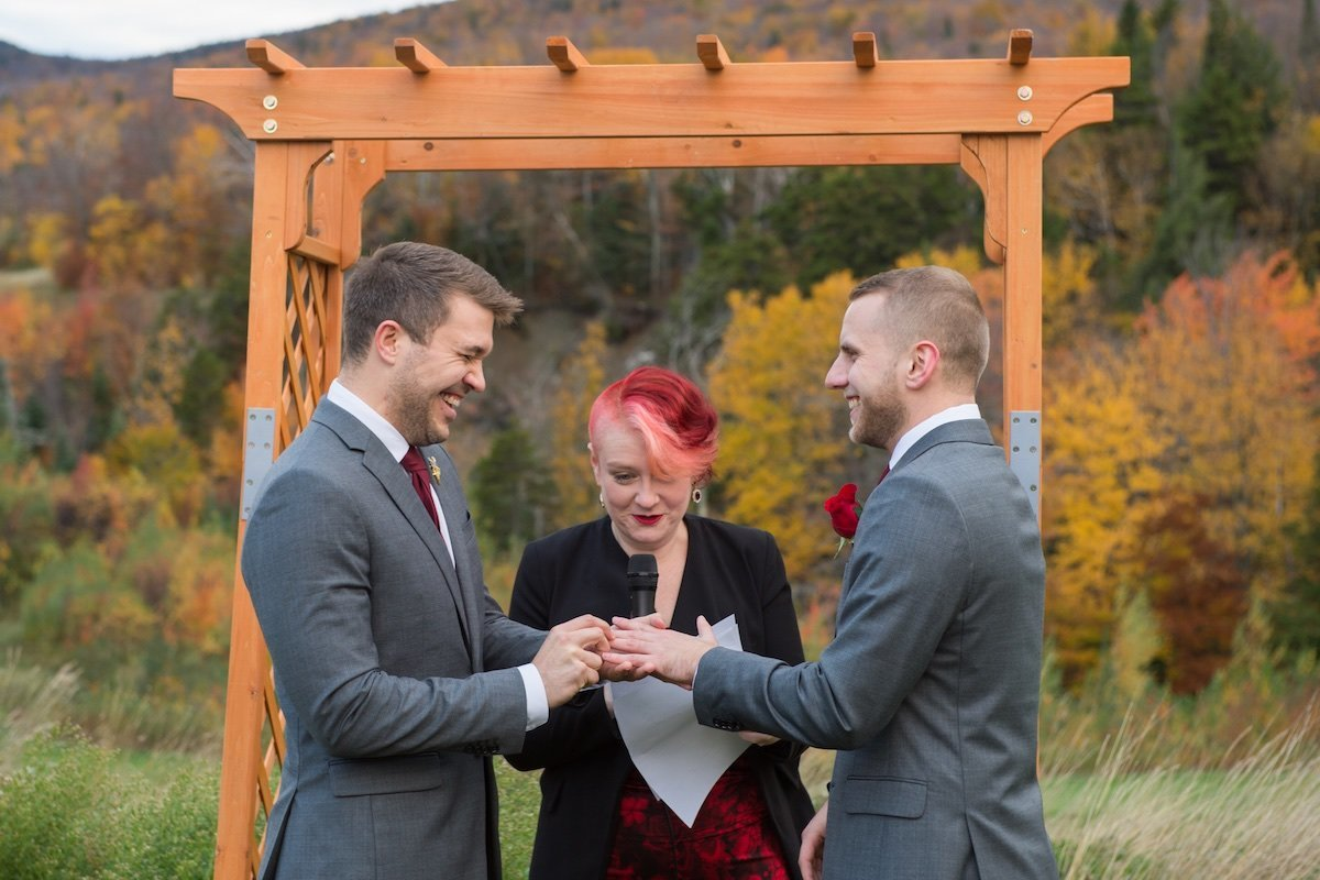 photographer for same sex gay wedding at Jay Peak Resort 1