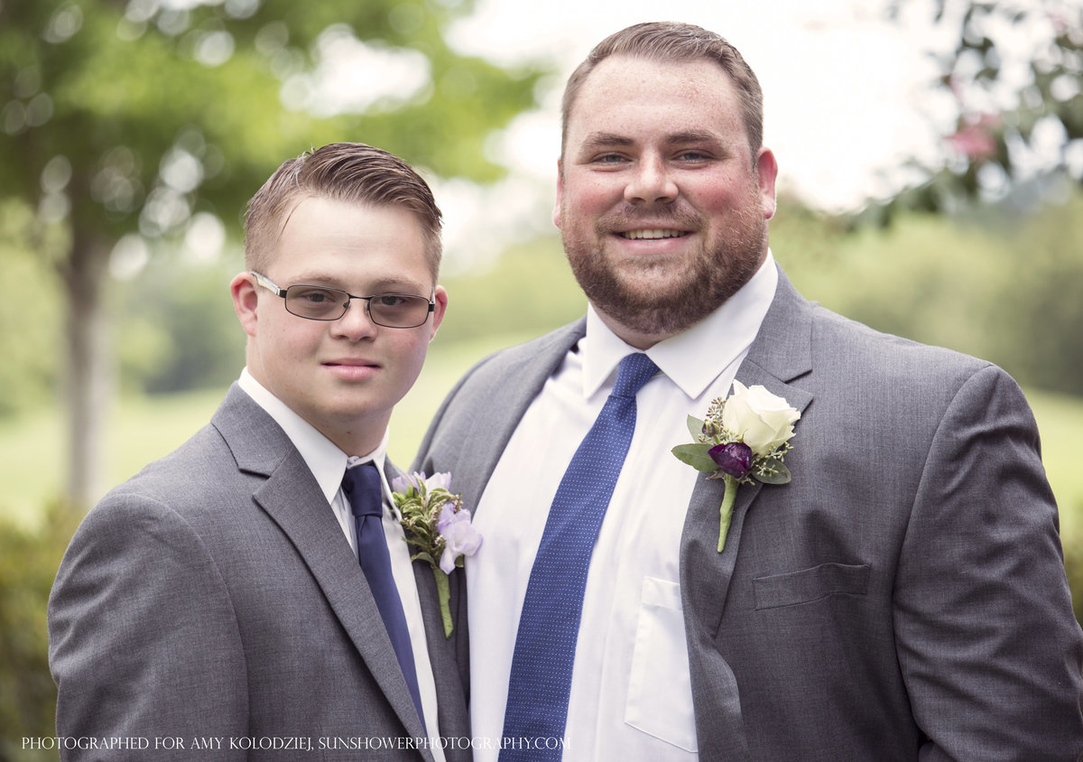 charlotte wedding photographer jamie lucido creates a beautiful portrait of the groom and his brother