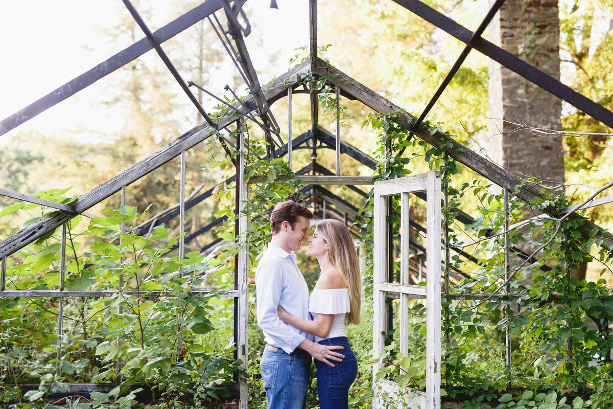 Philadelphia Engagement Session Greenhouse Outdoors 07