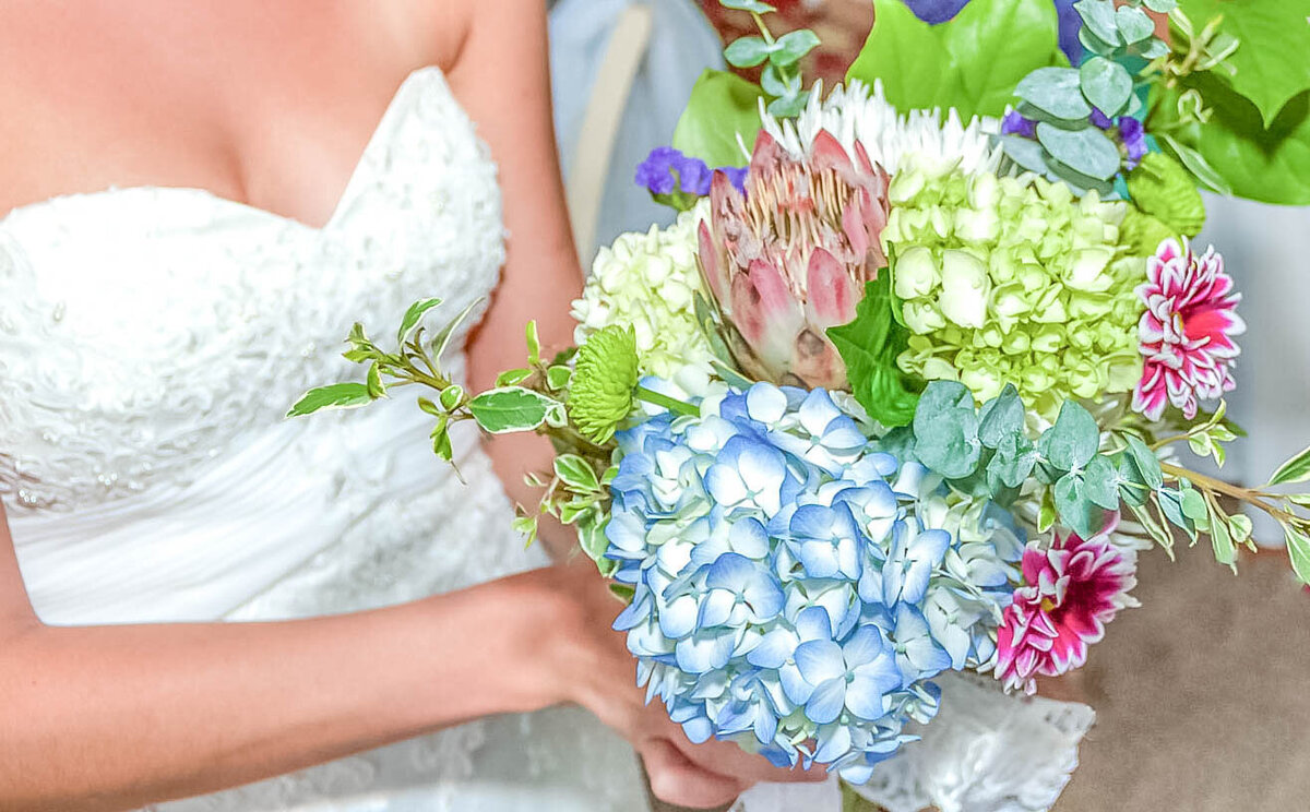 Bald Head Island Wedding Photography - Anna and Ray - Bridal Bouquet - Wilmington NC Photographer Team