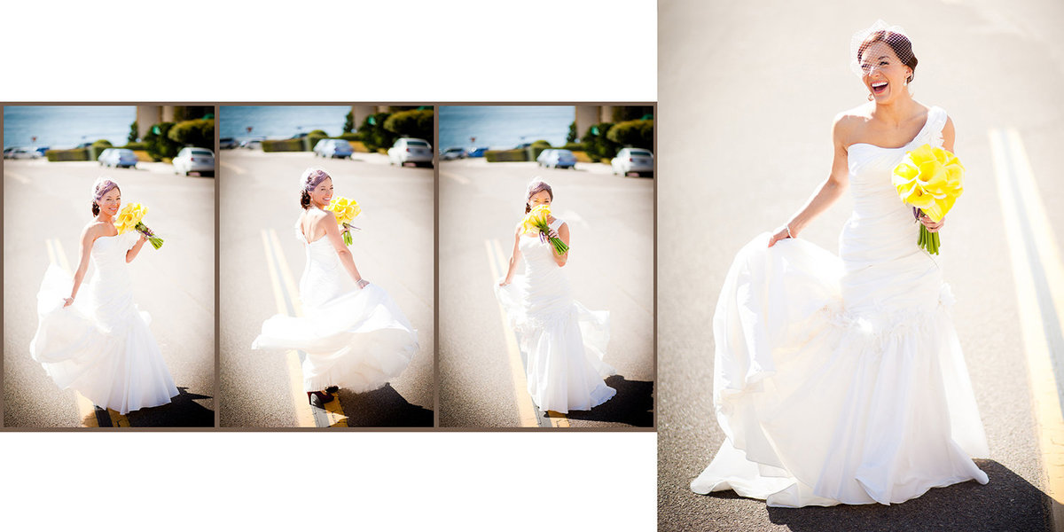 Grande Colonial Hotel wedding photos bride sunshine laughing