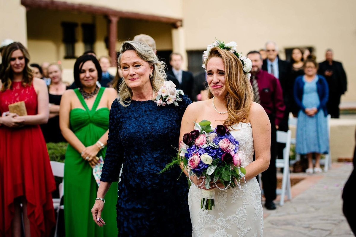bride walking down the aisle in el paso by stephane lemaire photography