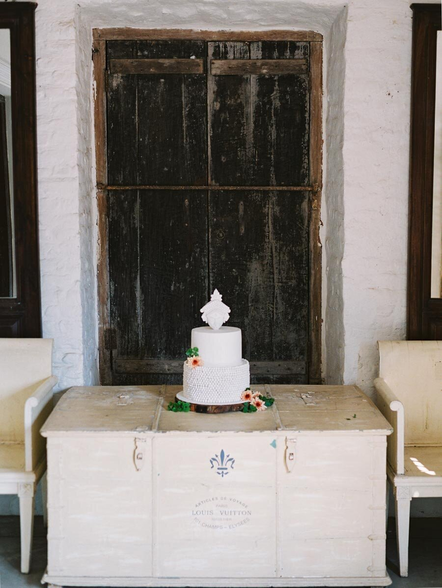 White Sleek Modern Indian Wedding Cake Durga Rouge Cafe Kolkata Bonnie Sen Photography