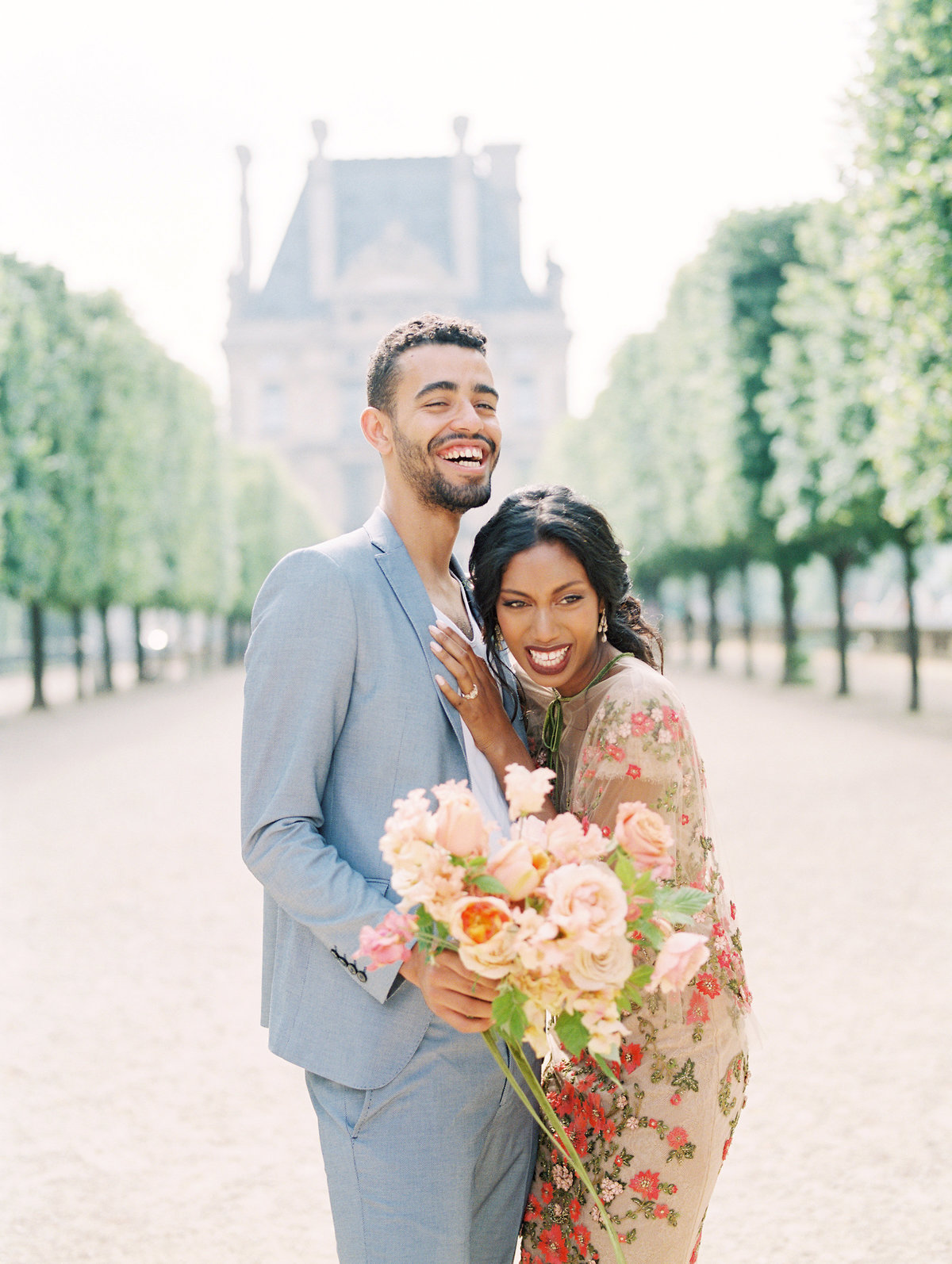 Marchesa Gown-Engagement in Paris, France at the Tuileries