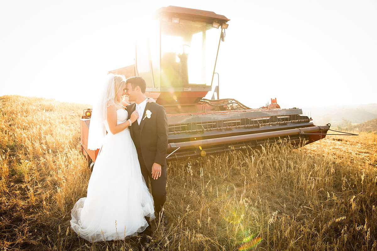 Steele Canyon wedding photos rustic field tractor