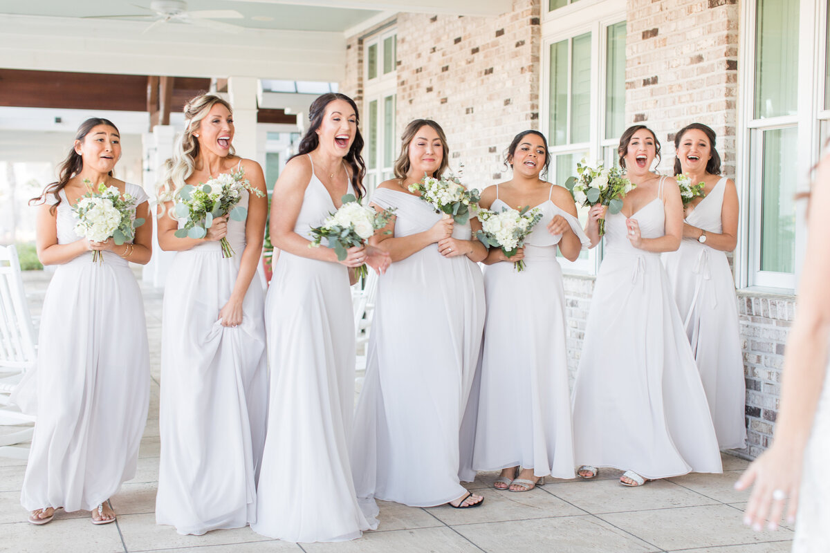 Hannah and Alex - Charleston Harbor Resort & Marina - Bridesmaids First Look - 005
