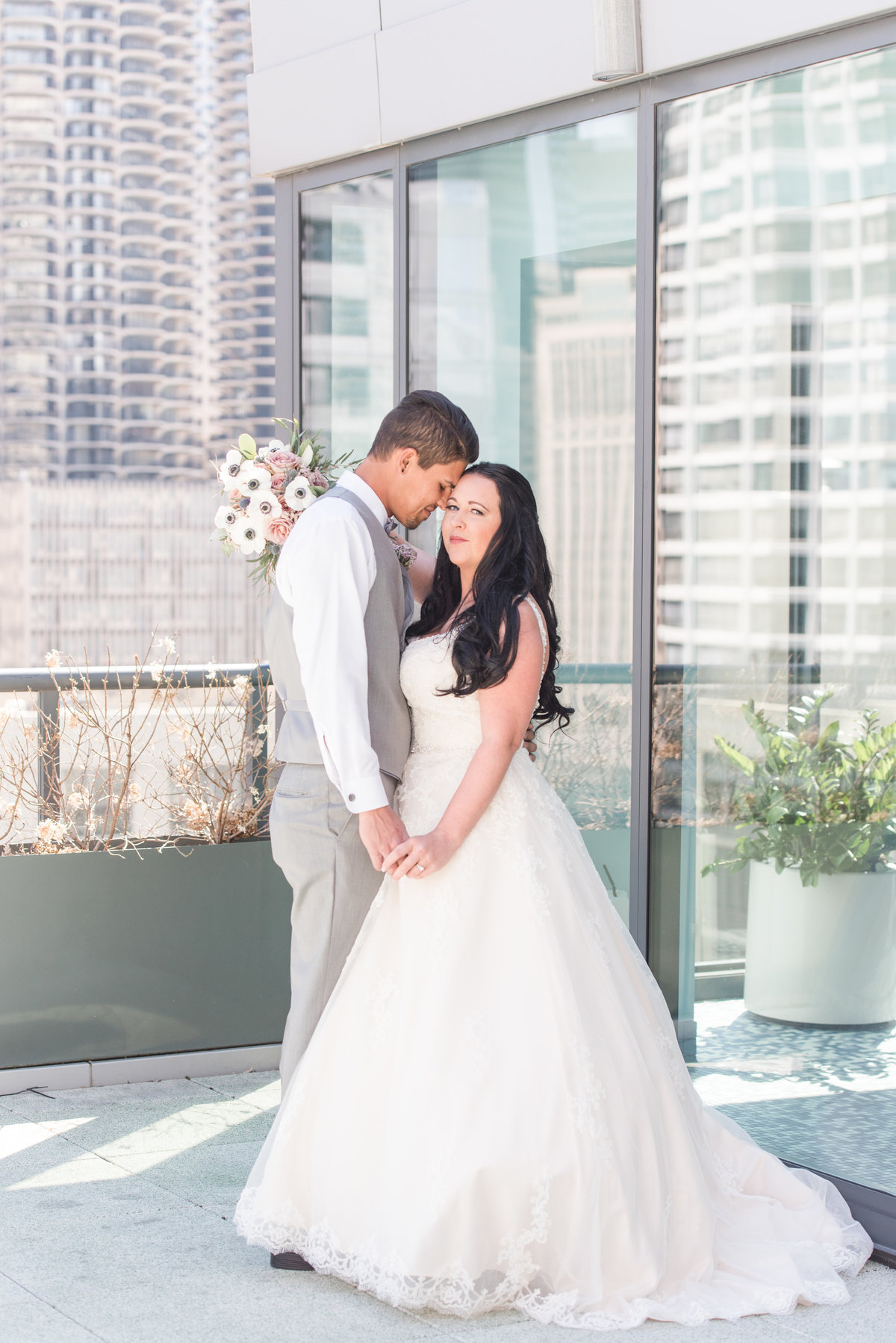 Chicago rooftop wedding photography