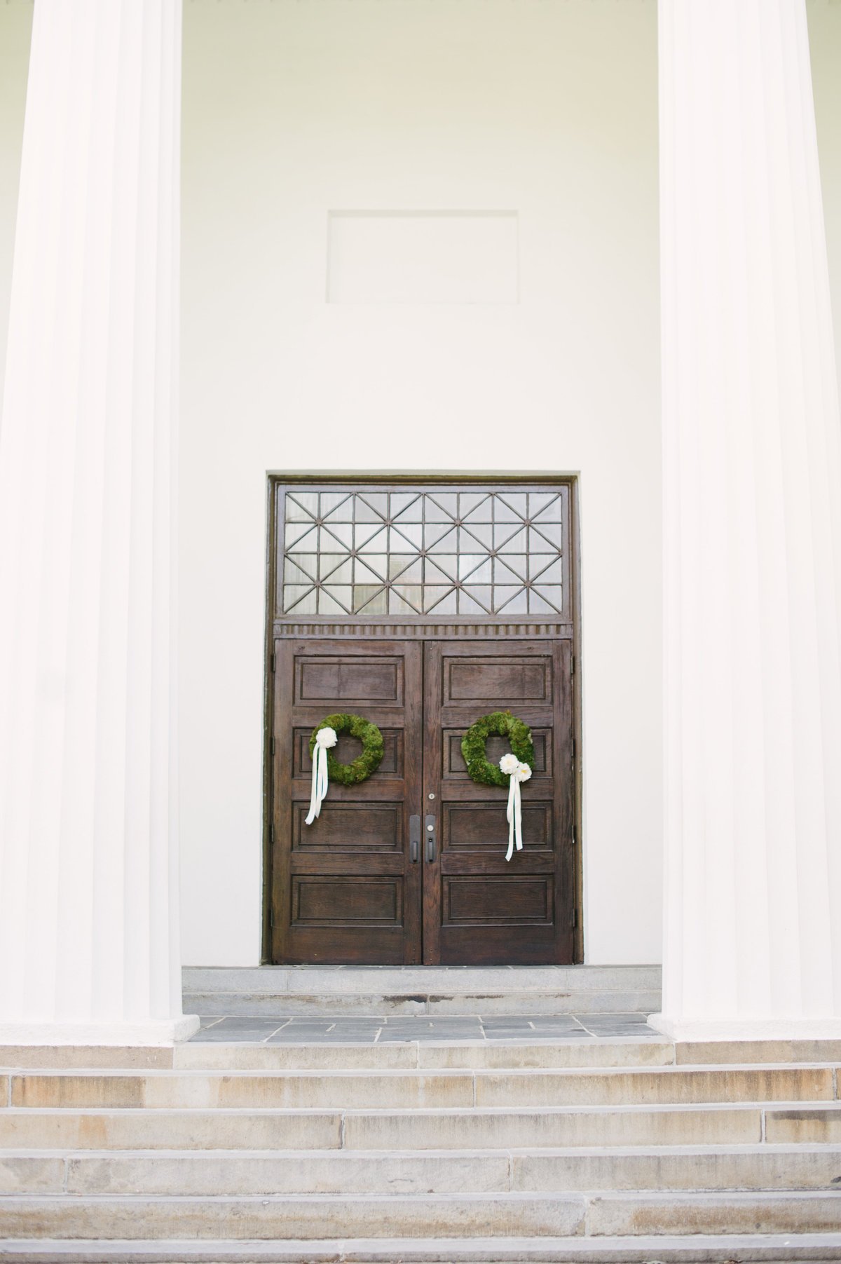 Wreaths on UGA Chapel Doors