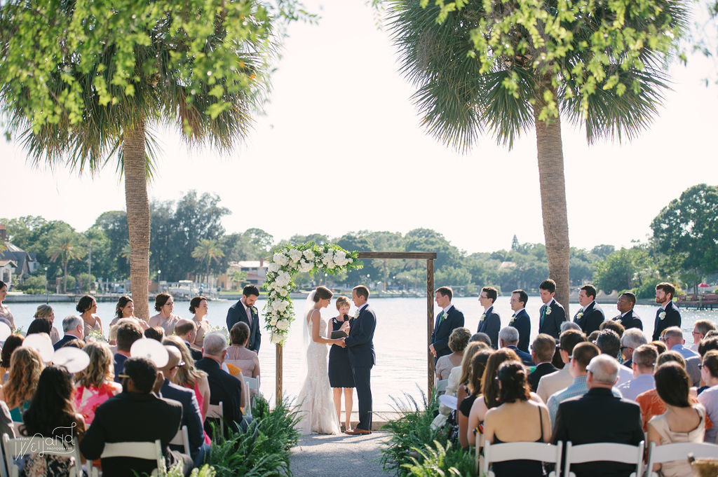 outdoor ceremony on the water