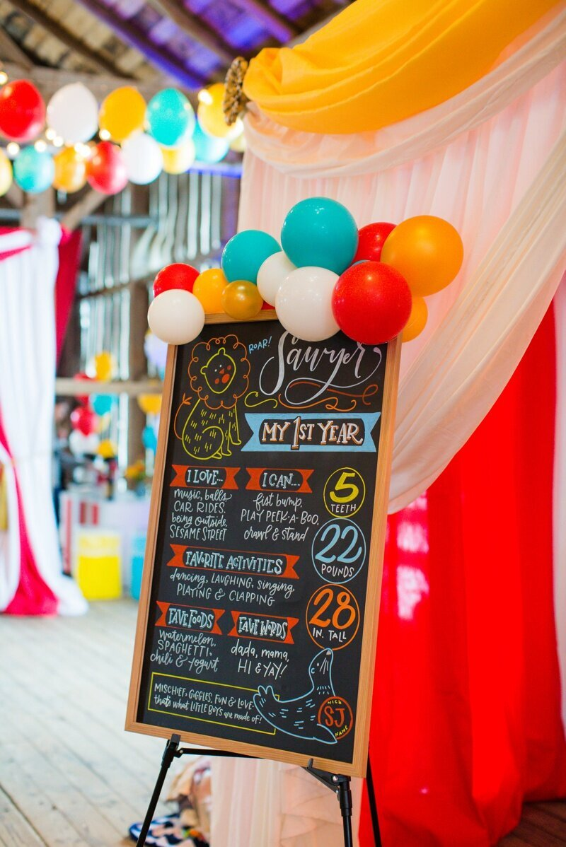 Circus Themed 1st Birthday Indianapolis Party Planner_0104
