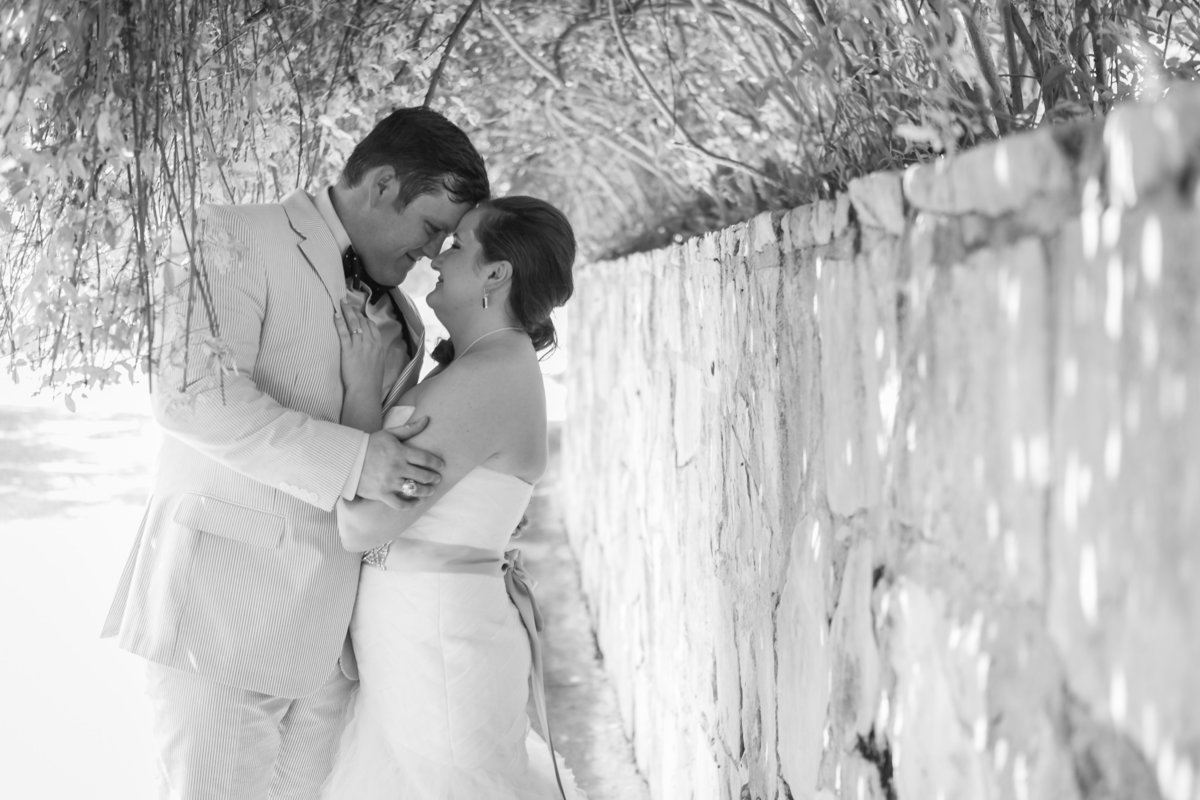 Nature's Point, Austin Family Photographer, Tiffany Chapman Photography bride and groom black and white heads together photo