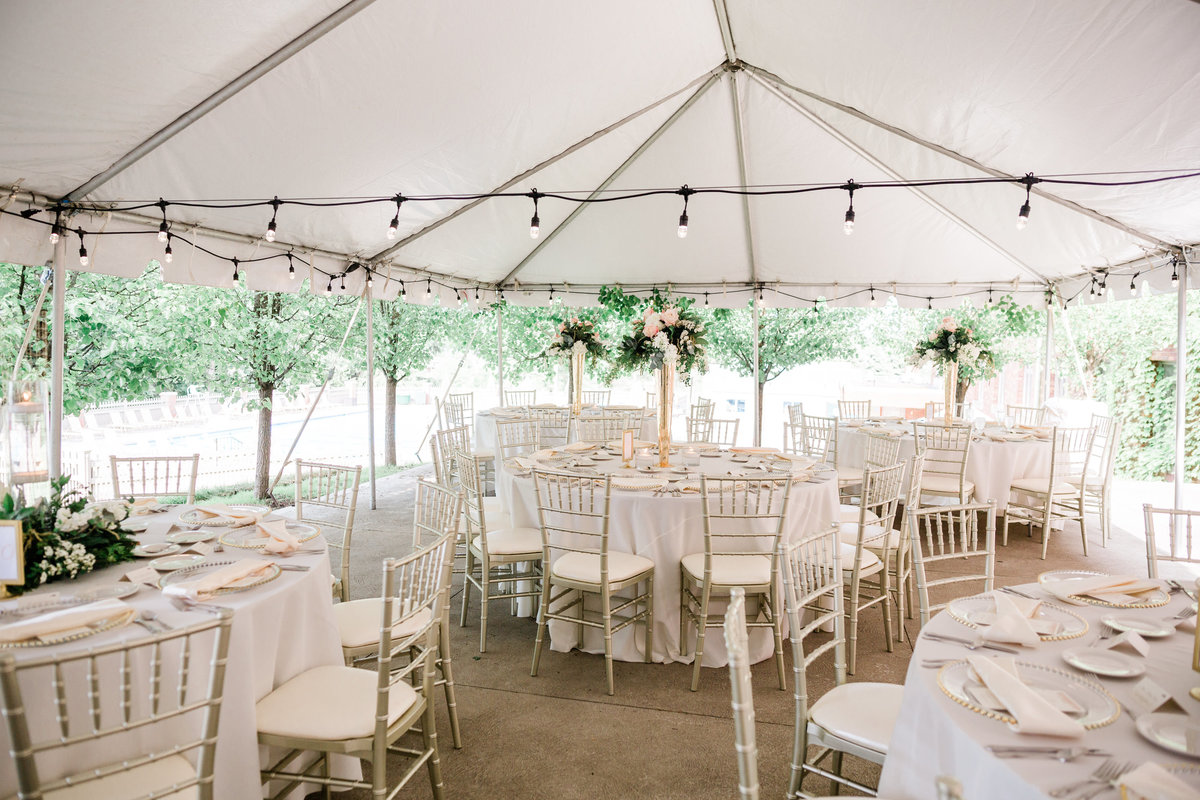 tented wedding in columbus ohio planned by columbus ohio wedding planner