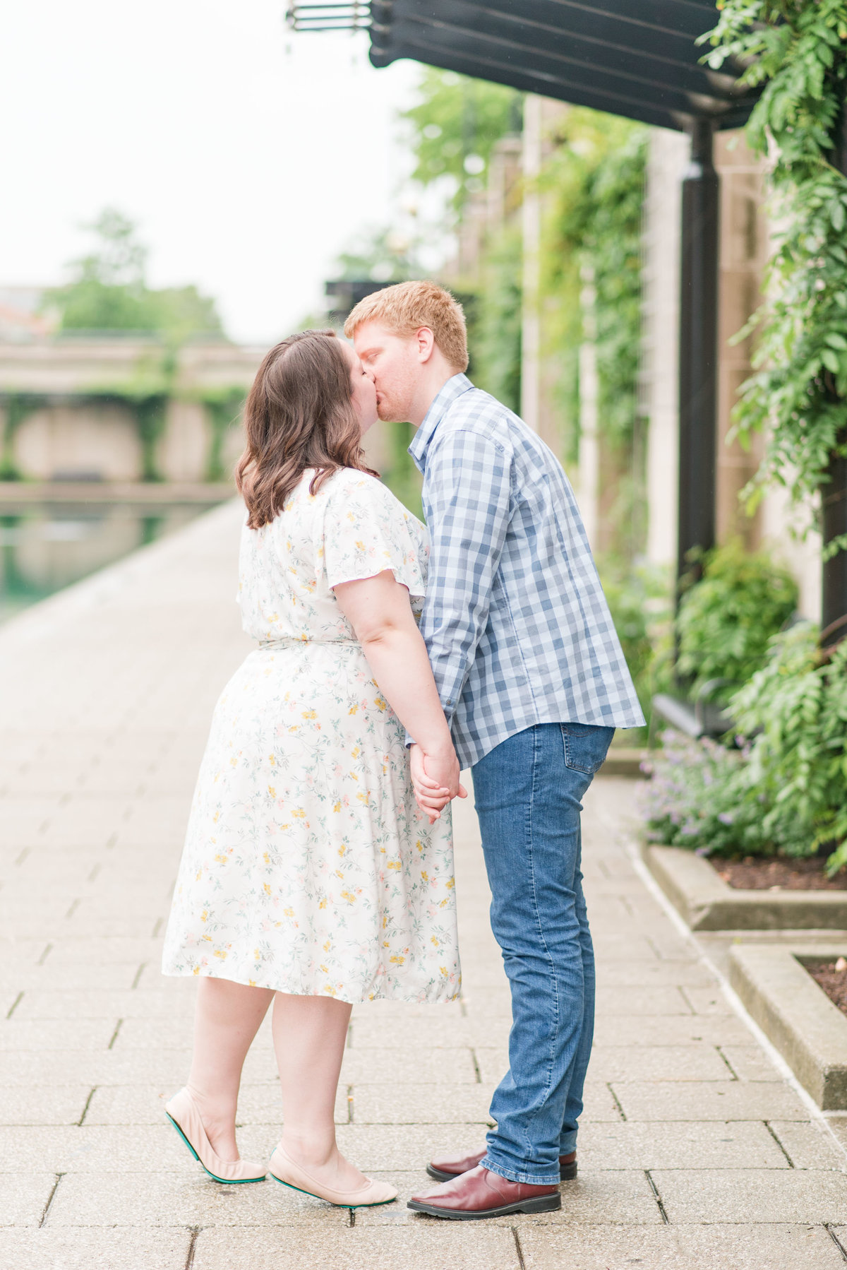Cait Potter Creative LLC Canal Indianapolis White River State Park Spring Engagement Photos-7