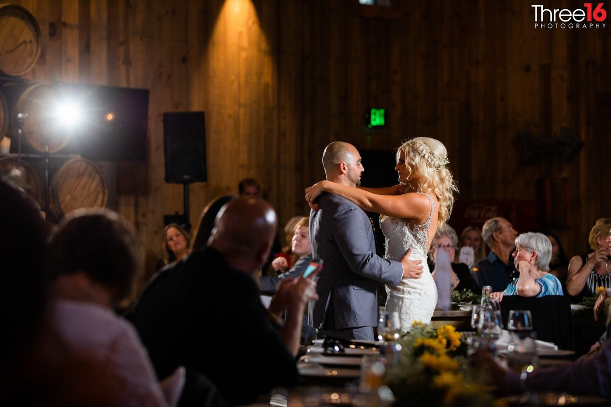Peltzer Winery Wedding Venue Photography Temecula First Dance