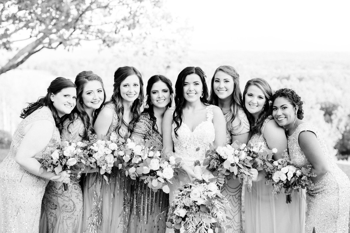bridal party outdoors-72