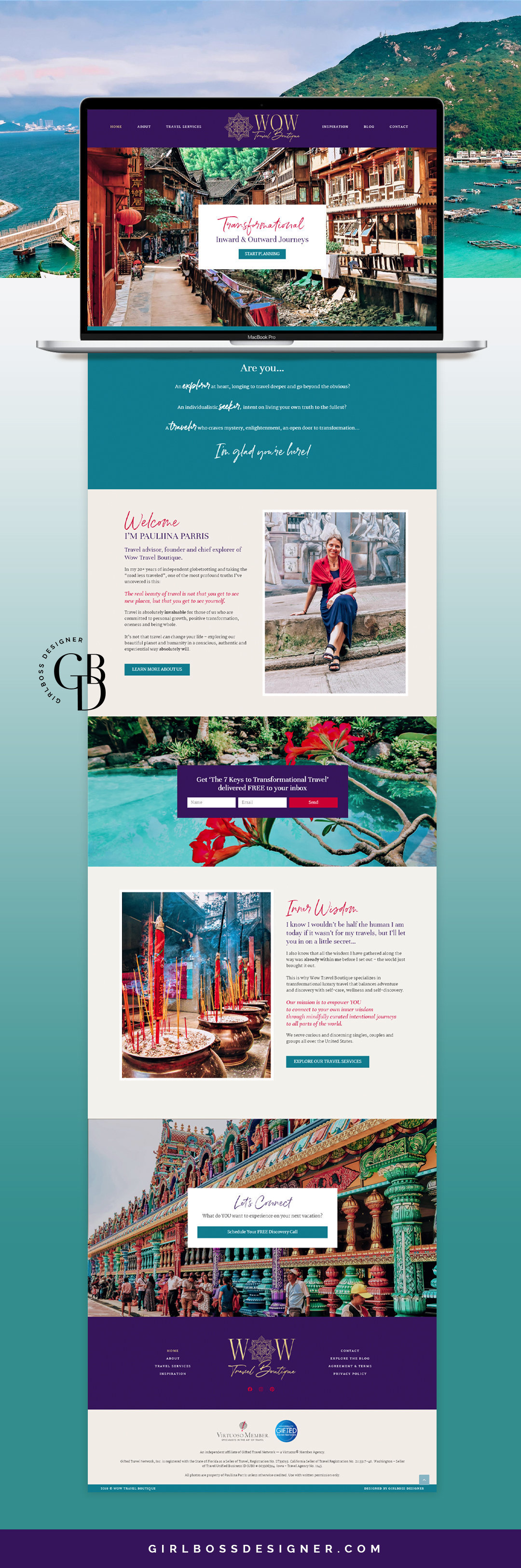 WOW Travel Boutique - Website-Mockup