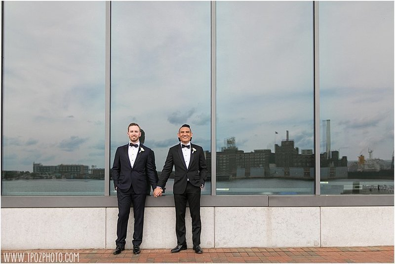 Gay wedding at the Frederick Douglass Maritime Museum in Baltimore