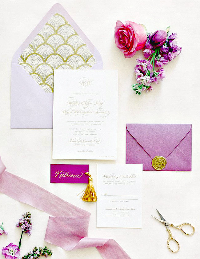 Modern Purple Invitation