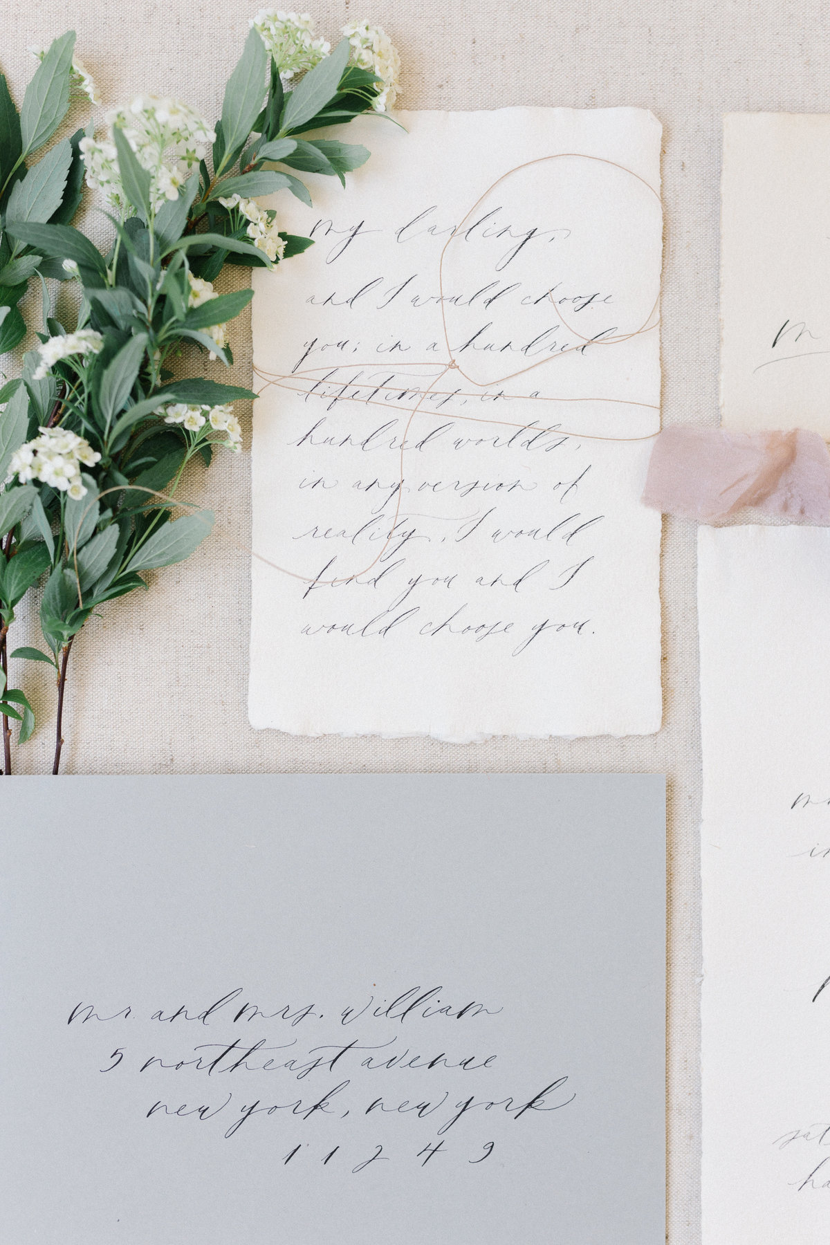 Calligraphy wedding letters