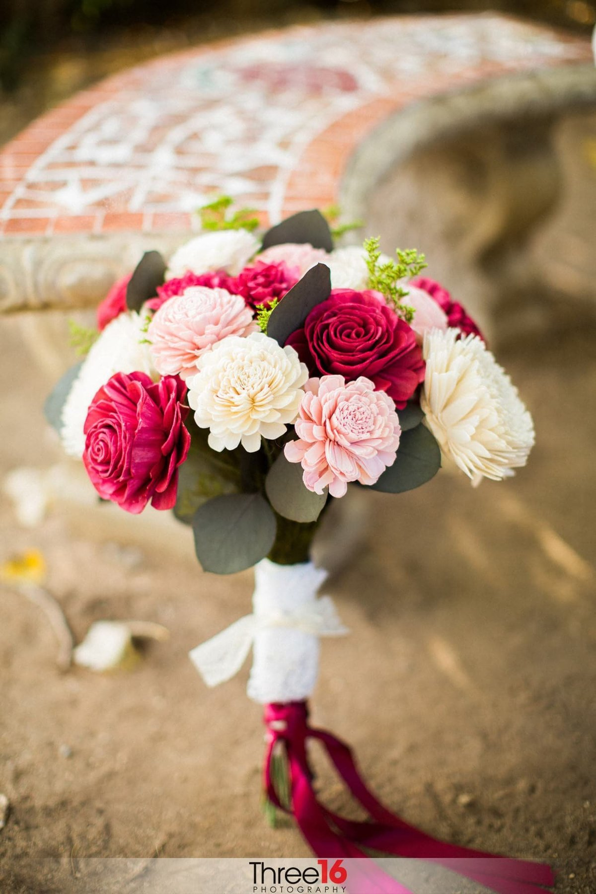 Brides beautiful bouquet of flowers