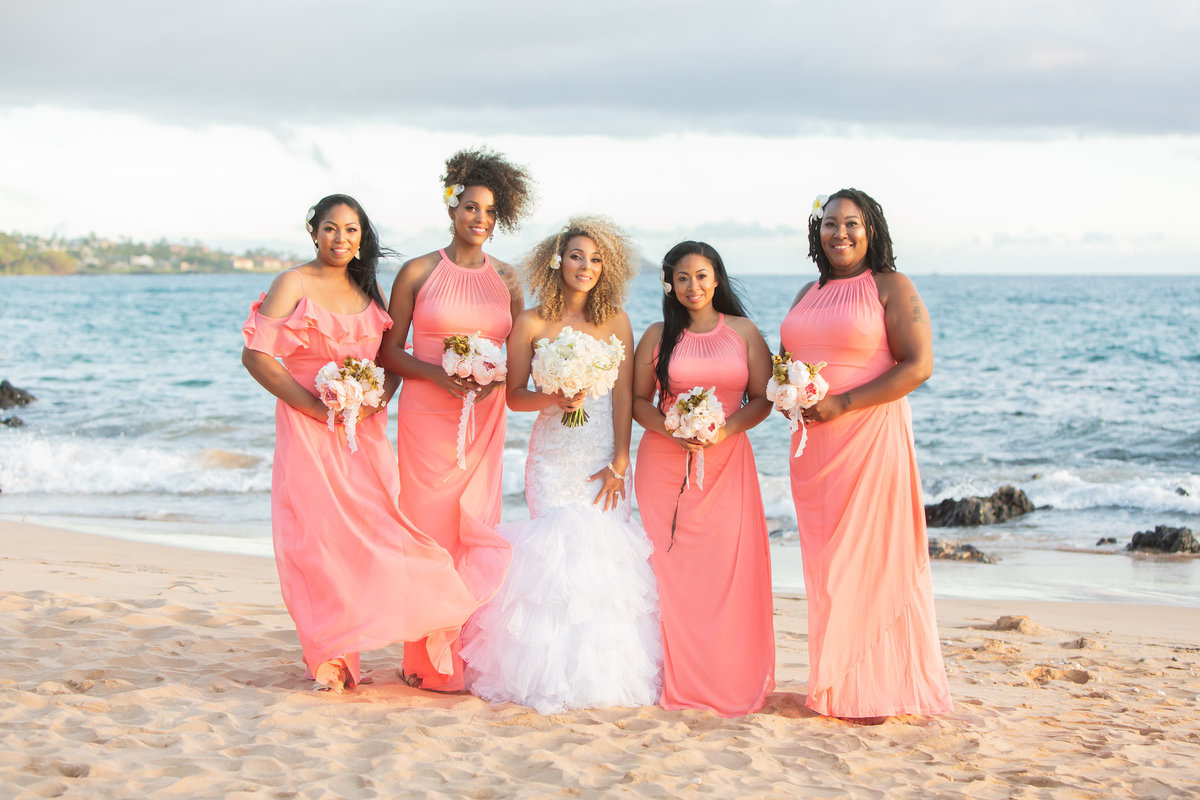maui wedding photography - brides maids