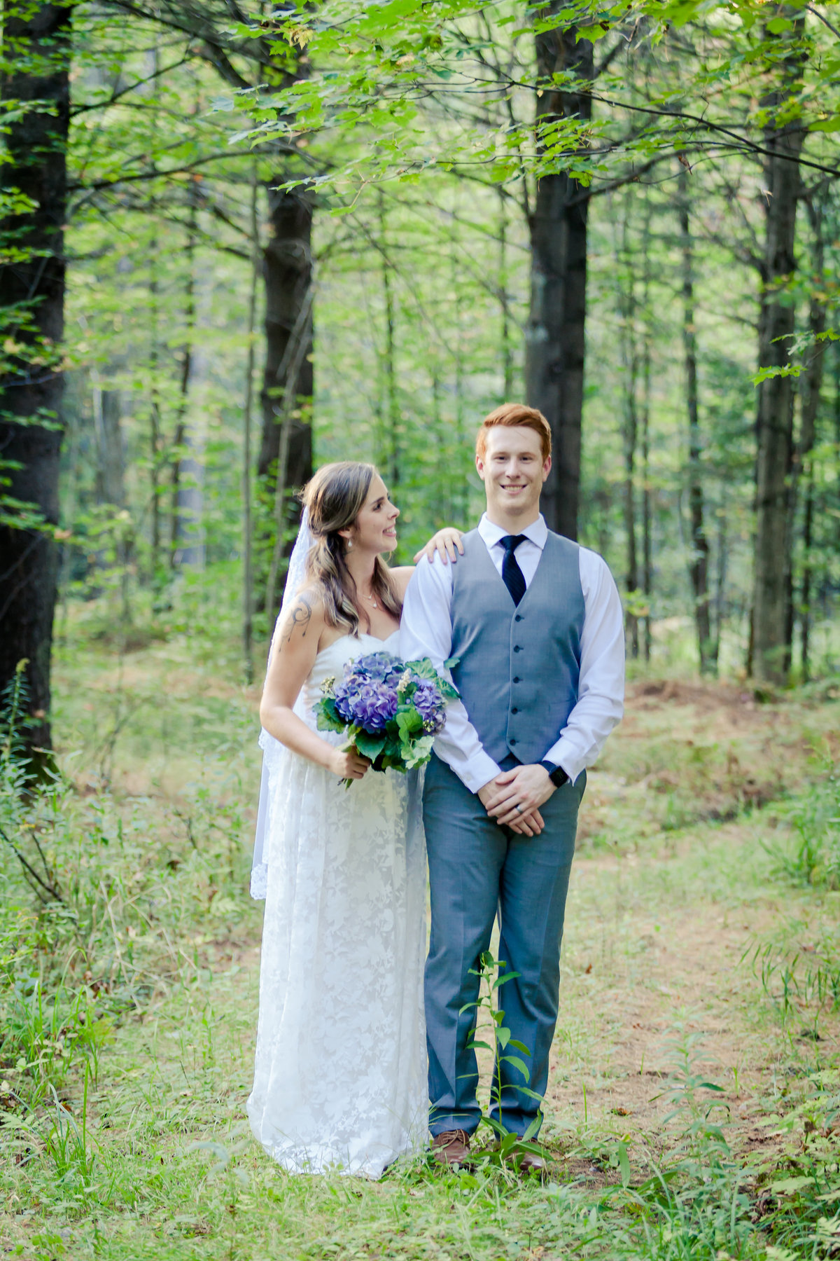 Country Wedding Bride and Groom Photo