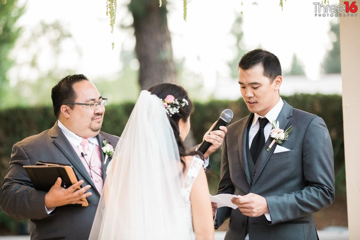 ceremony in fall at The Turnip Rose Promenade