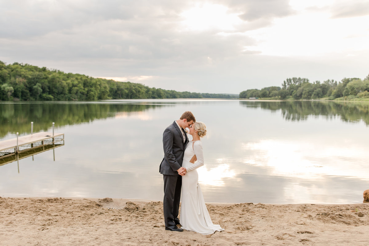 Frazee Minnesota lake wedding day