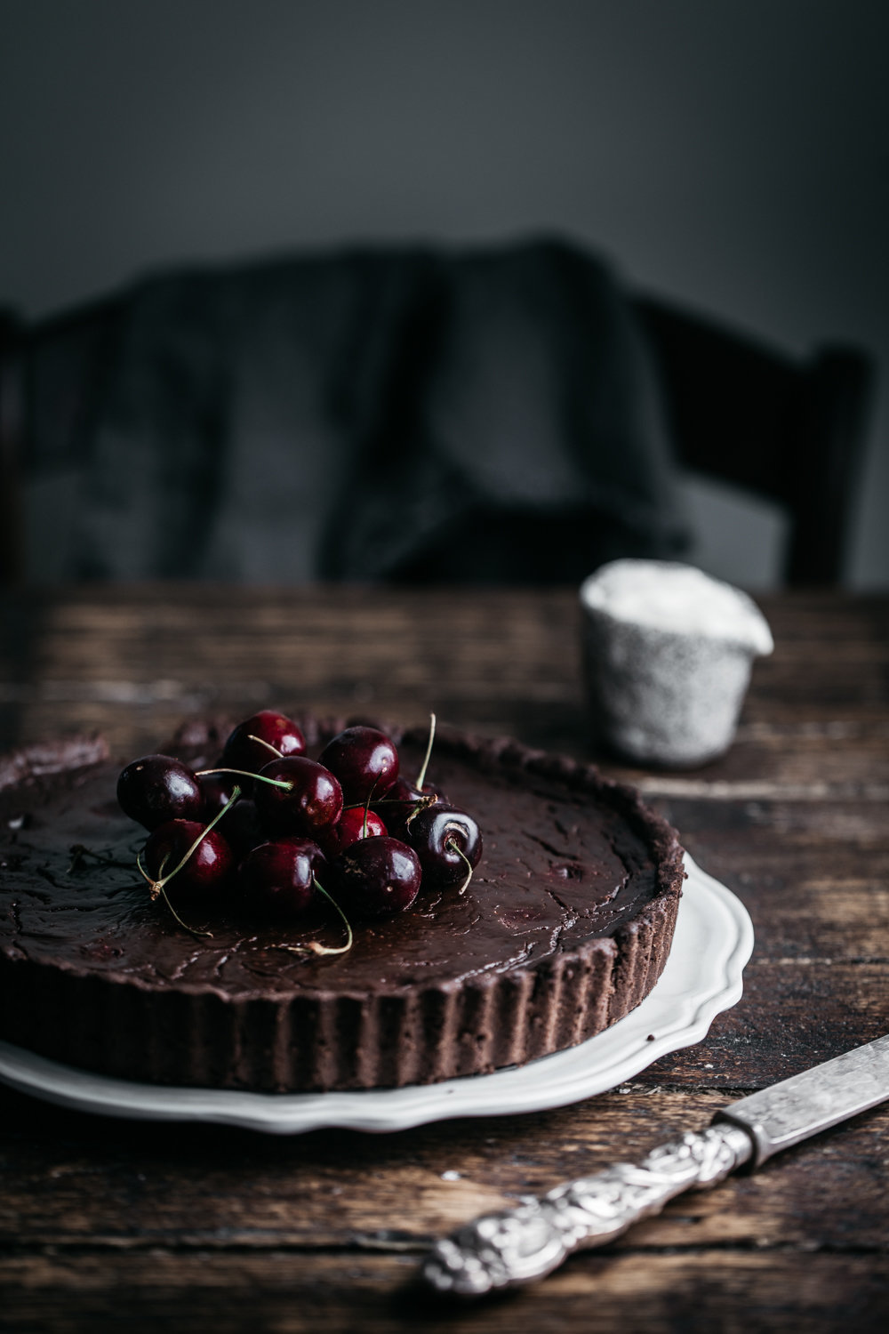 Dark Chocolate and Cherry Tart | Anisa Sabet | The Macadames-121