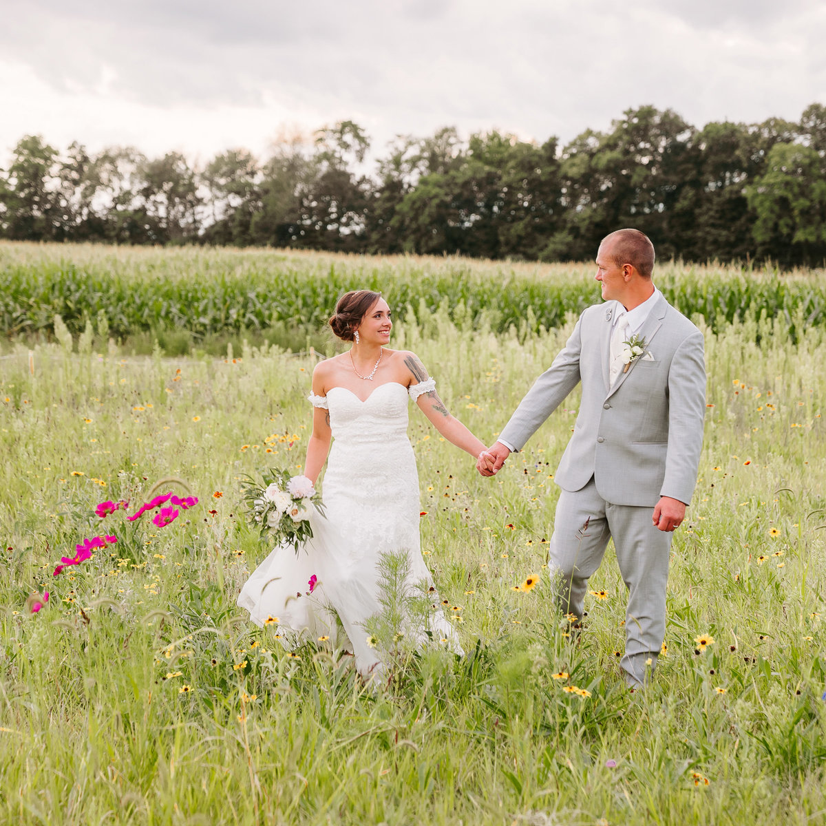 misty farm bride groom sunset ann arbor mi