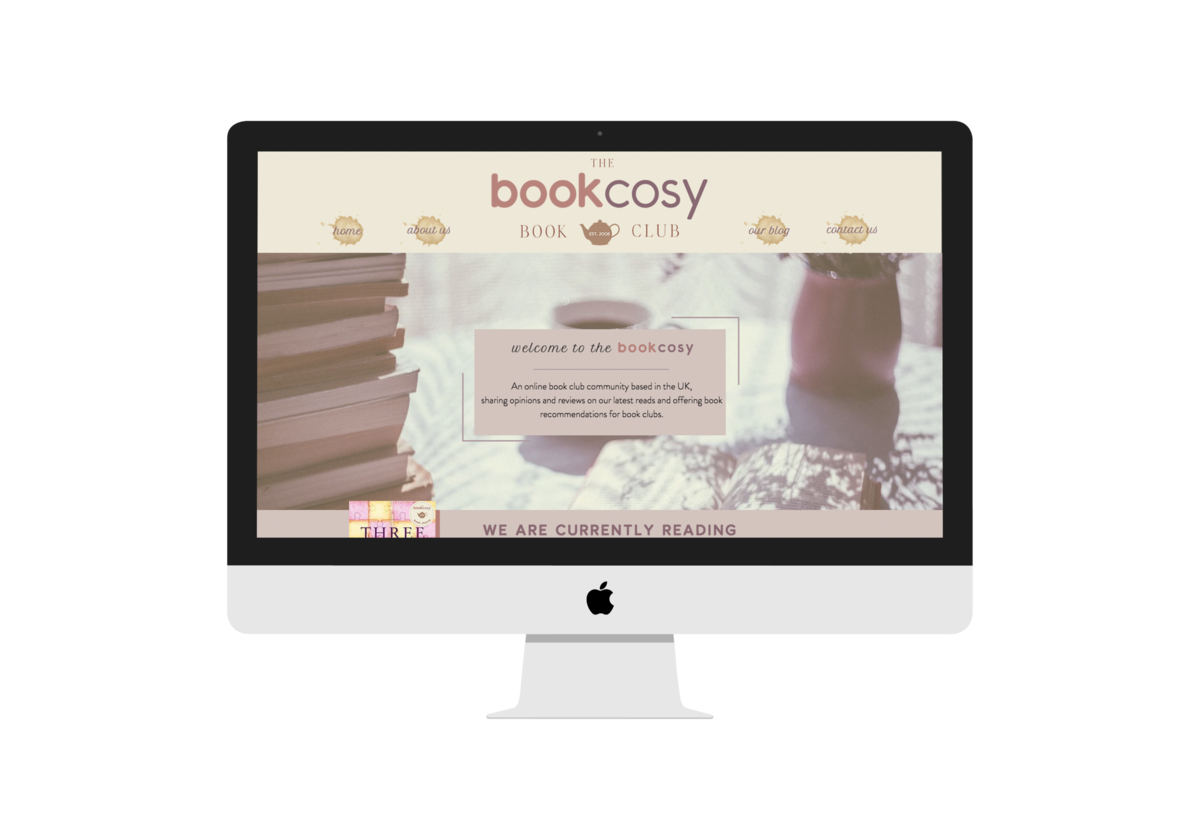 The BookCosy Website  mockup on iMac Screen
