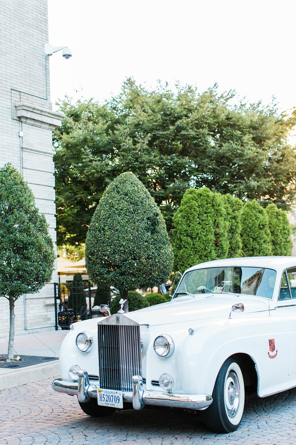 Classic Rolls Royce wedding car
