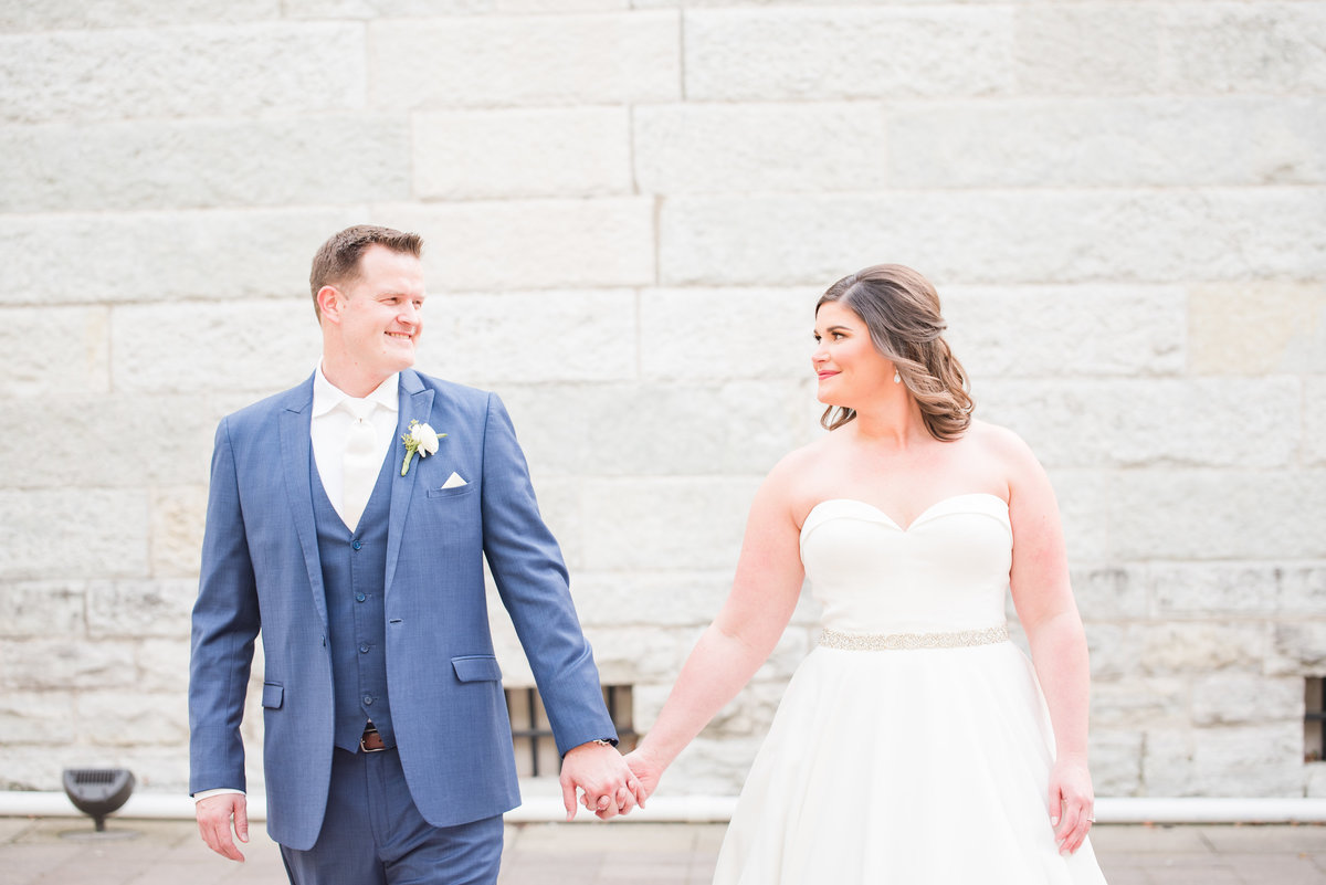 Newlywed Portraits Cait Potter Creative LLC Milltop Potters Bridge Noblesville Square Courthouse Wedding-30