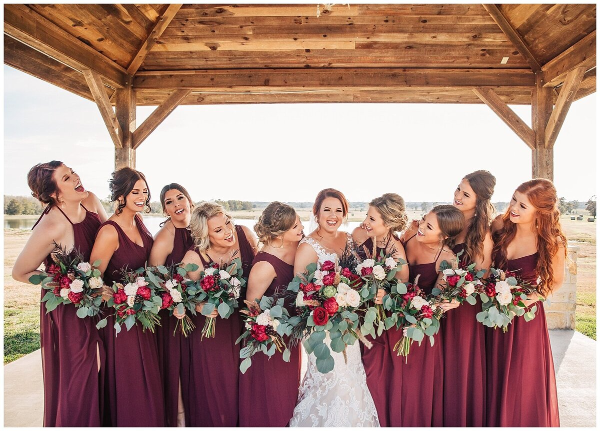 Rustic Burgundy and Blush Indoor Outdoor Wedding at Emery's Buffalo Creek - Houston Wedding Venue_0674