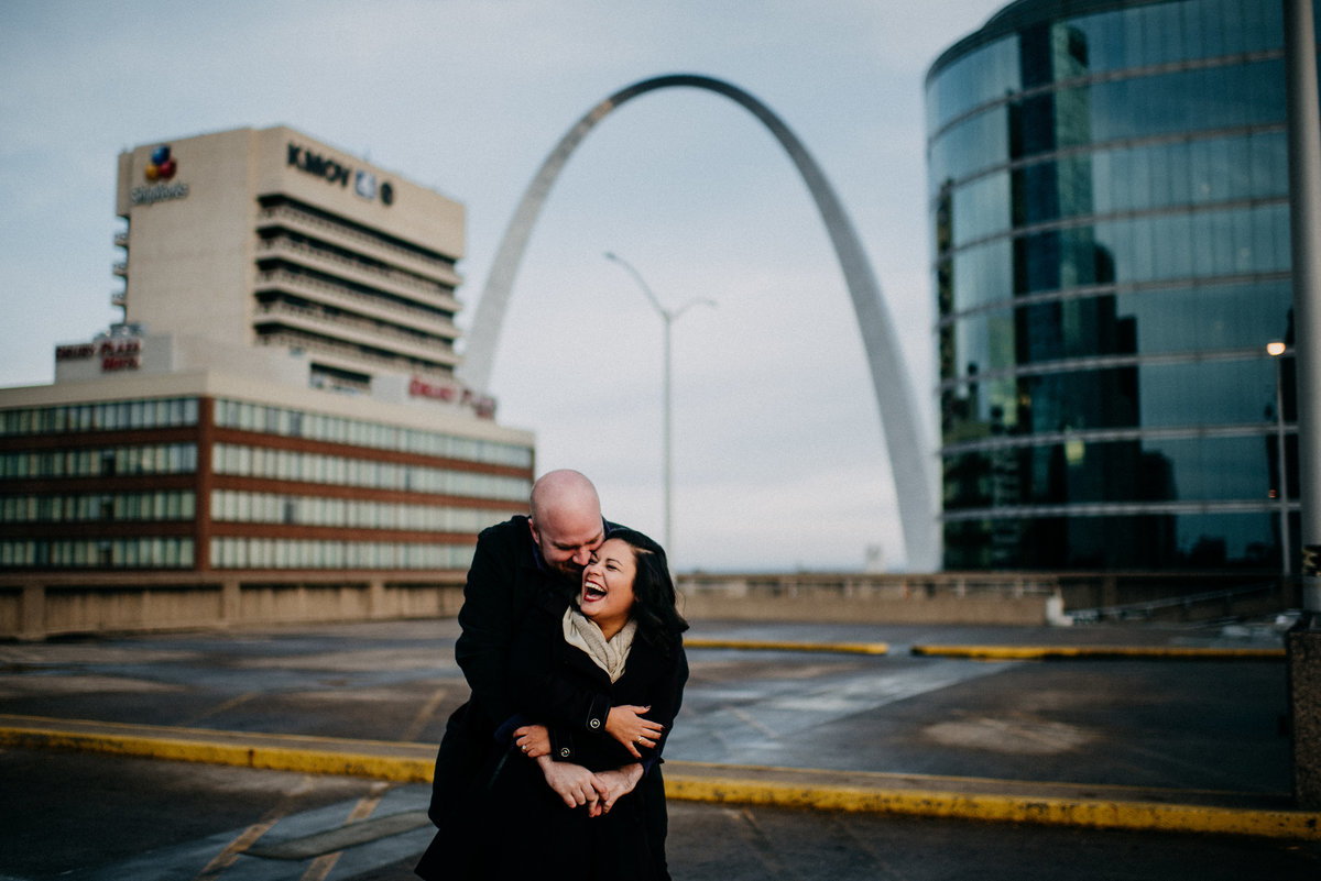 Downtown STL Winter Engagement Session-19