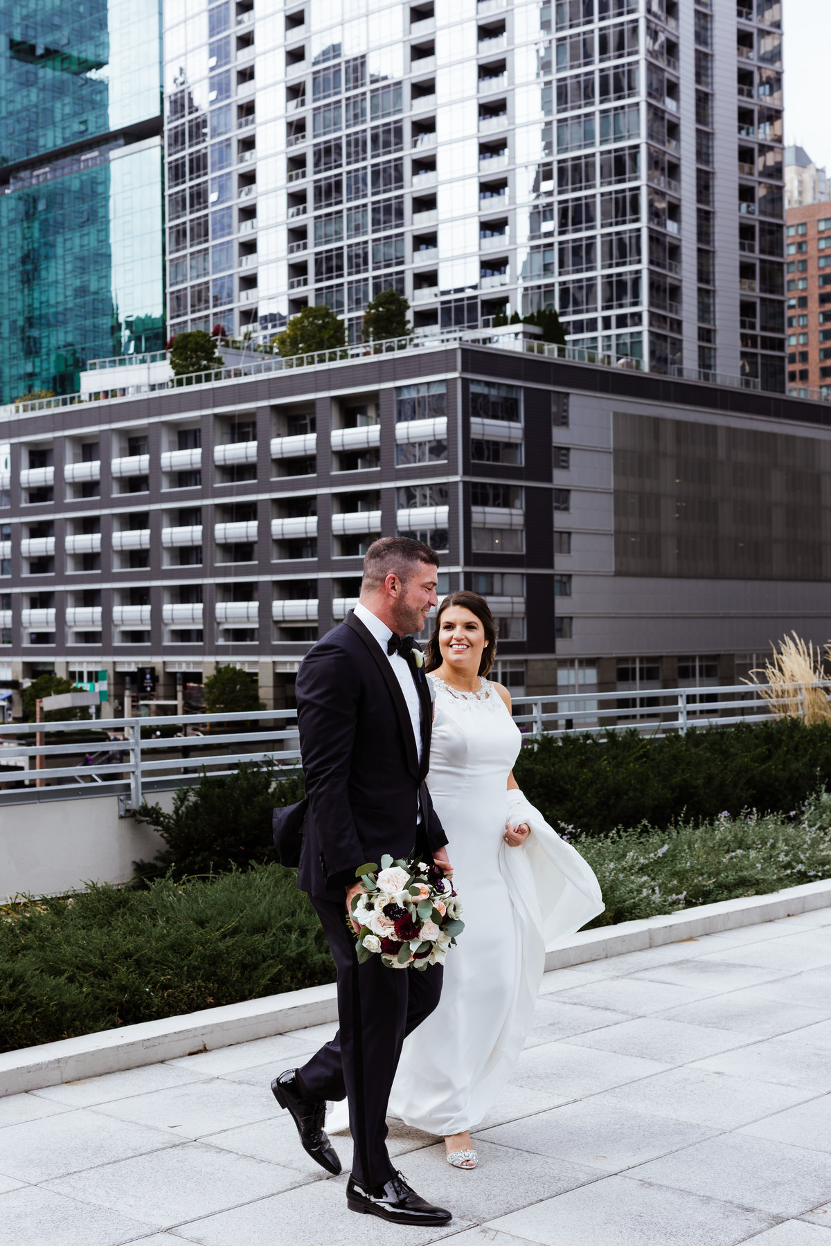 Bride-Groom-Portraits-Chicago-Rooftop