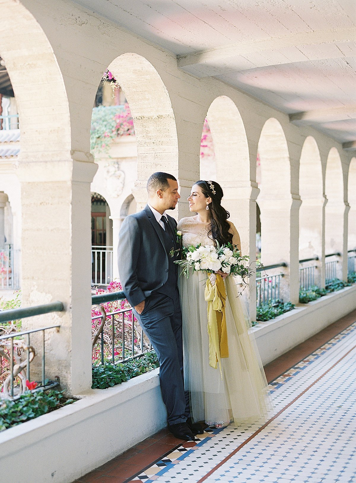 Posh Peony Mission Inn Lush Gray and Gold Greenery Wedding Flowers_0005