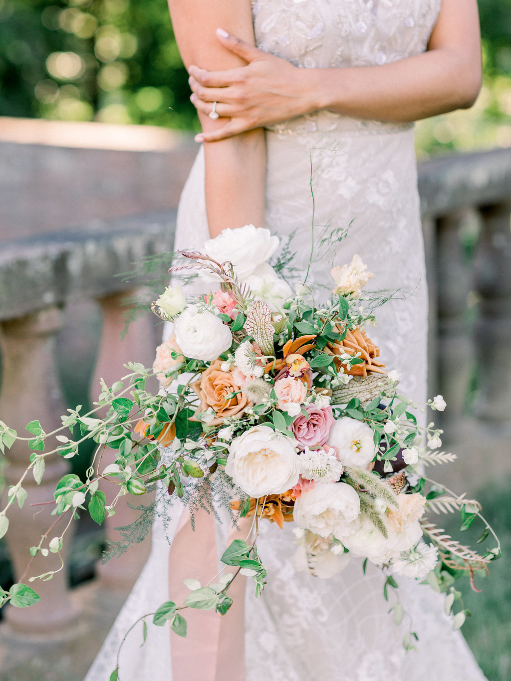 Summer Wedding Tyler Gardens Philadelphia bouquet bride florist