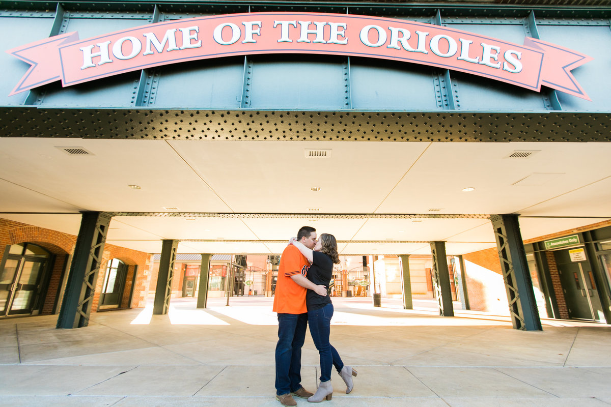 Camden Yards Orioles Engagement Photographer