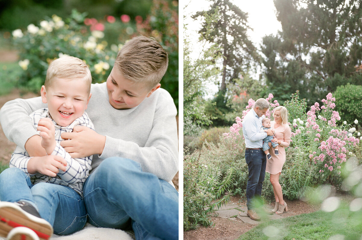 Seattle Rose Garden Family Session - Film Family Photography - Seattle - Fine Art - Light and Airy - Family photos - 1
