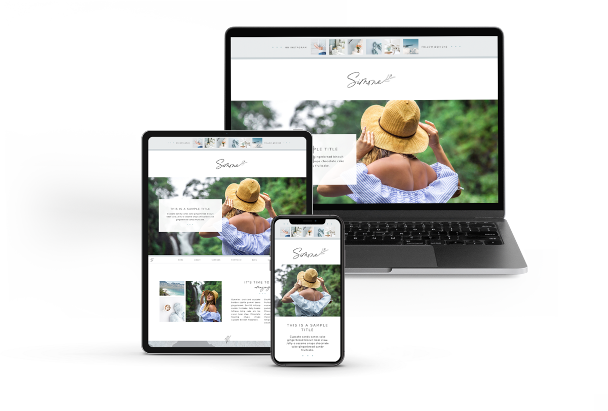 Simone Showit Website Template | Heather Jones Creative